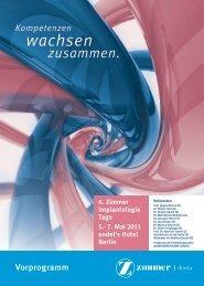 zum Vorprogramm - Zimmer Dental GmbH