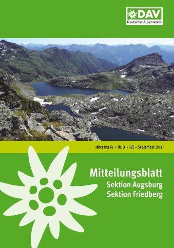 Mitteilungsblatt 2011/3 (PDF, 9,4 MB) - Alpenverein Augsburg