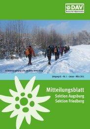 Mitteilungsblatt 2011/1 (PDF, 7,2 MB) - Alpenverein Augsburg