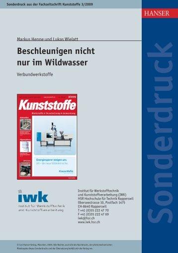 Beschleunigen nicht nur im Wildwasser - IWK - HSR