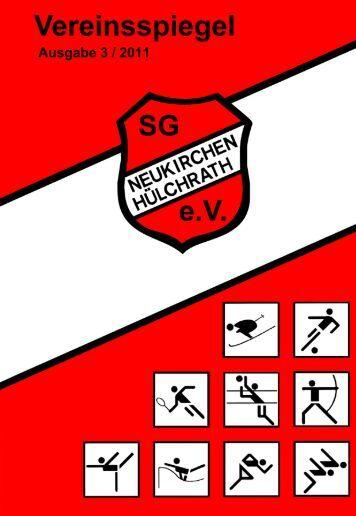 Heft 3/2011 - Sportgemeinschaft Neukirchen-Hülchrath e.V.