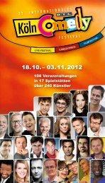 Programmheft 2012 - Köln Comedy