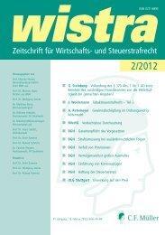 Bundesverfassungsgericht - wistra - Zeitschrift für Wirtschafts- und ...