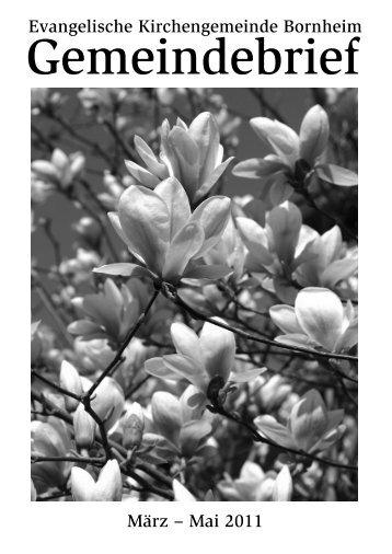März, April und Mai 2011 - Evang. Kgm. Vorgebirge