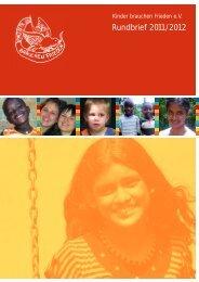 Rundbrief 2011/2012 - Kinder brauchen Frieden