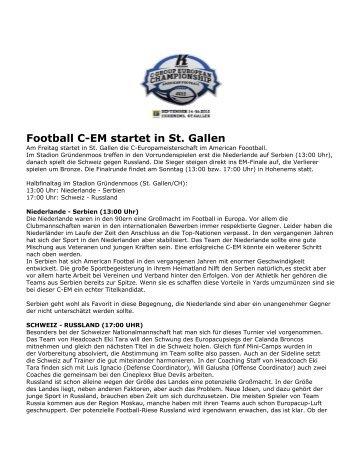 Football C-EM startet in St. Gallen - C-Group Euro 2012