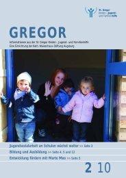 jugendsozialarbeit an schulen - St. Gregor Jugendhilfe Augsburg