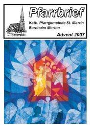 PFARRBRIEF Advent 2007 - Merten-Mooses
