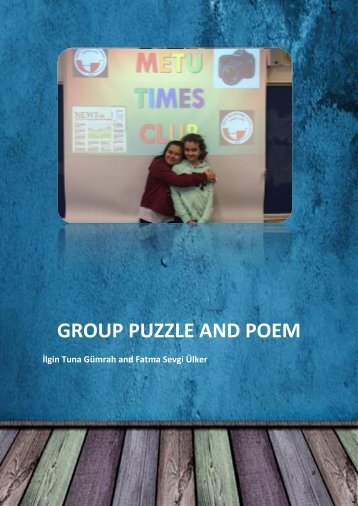 8 Group Puzzle & Poem