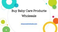 Buy Baby Care Products Wholesale