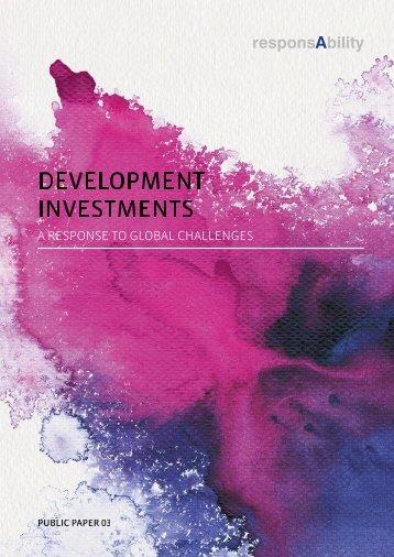 DEVELOPMENT INVESTMENTS