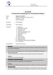 Protokoll 8. Generalversammlung Care Team Kanton Schwyz