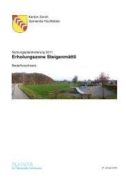 Erholungszone Steigenmättli - Hochfelden