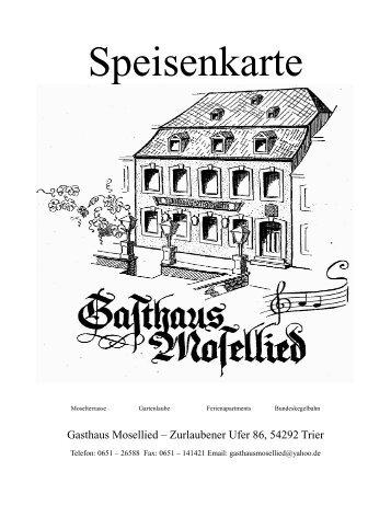 Vegetarisch - Gasthaus Mosellied