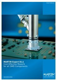 MARTIN Expert 04.6 Cost Effective Rework for all SMD Components