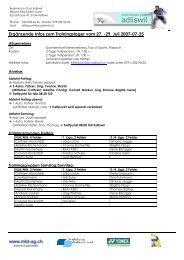Ergänzende Infos zum Trainingslager vom 27. -29. Juli 2007-07-25