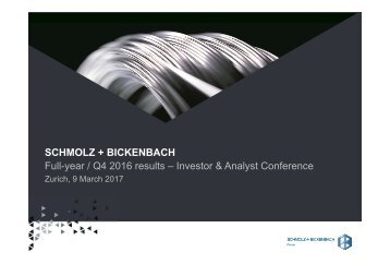 Full-year / Q4 2016 results – Investor & Analyst Conference