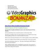 Video Graphics Bonanza Review-$32,400 bonus & discount - Page 2