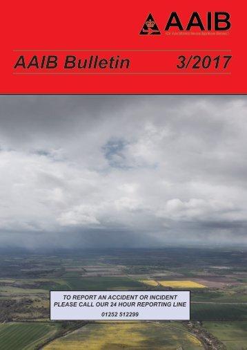 AAIB Bulletin 3/2017