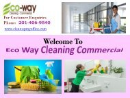 Carpet Cleaning New Jersey|ECO-WAY Cleaning Commercial
