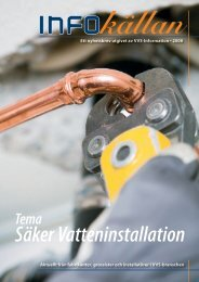 Säker Vatteninstallation - VVS-Information Data AB