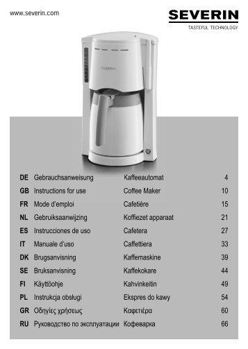 Coffee Maker/ Cafetia?re /Cafetera KCM1203, KCM1402 - KitchenAid