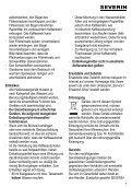 Severin KA 4481 Cafetière électrique »START« - Istruzioni d'uso - Page 7