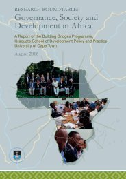 Governance Society and Development in Africa