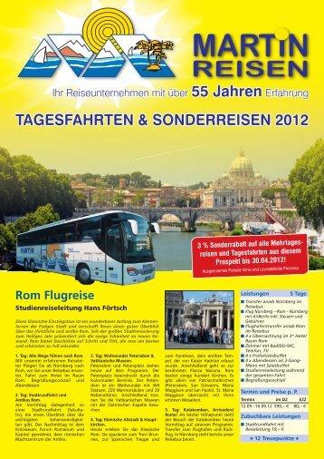 tagesFaHrten & sonDerreisen 2012 - Martin-Reisen