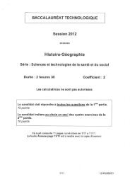 BAC-ST2S_Histoire-Geographie_2012
