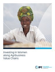 Investing in Women along Agribusiness Value Chains