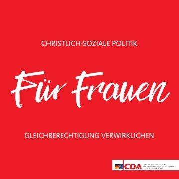 """Broschüre """"Christlich-soziale Politik für Frauen"""""""