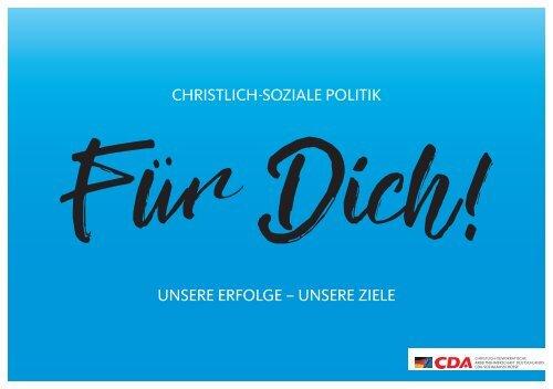 """Broschüre """"Christlich-Soziale Politik für dich!"""""""