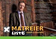 OSWALD STEINER - Matreier Liste