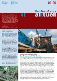 Job & Sports Ein Traumschiff für Kinder - Pro Beruf GmbH