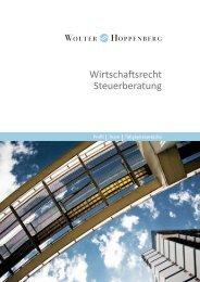 Wirtschaftsrecht Steuerberatung - Wolter Hoppenberg