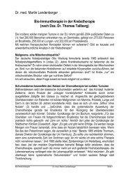 Dr. med. Martin Landenberger Bio-Immuntherapie ... - bei Selectione