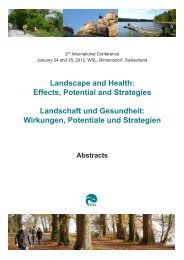 Landscape and Health: Effects, Potential and Strategies ... - WSL