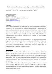 Occulo-zerebrale Toxoplasmose nach allogener ...