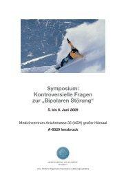 """Symposium: Kontroversielle Fragen zur """"Bipolaren Störung"""""""