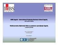 IGBS Zagreb - International Graduate Business School Zagreb IGBS ...