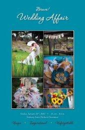 January 2012 Wedding Affair Program - Vendor List - Bravo!