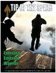 Tip of the Spear - United States Special Operations Command