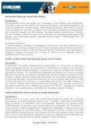 Rassegna Stampa 1 - UNIGLOBE Easy Nite Travel