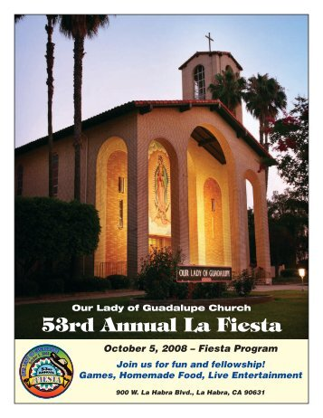 53rd Annual La Fiesta - Our Lady of Guadalupe Catholic Church