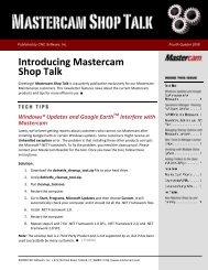 Mill Design & Toolpaths - Mastercam