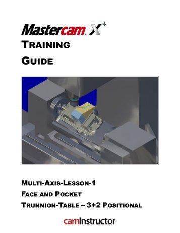 mastercam training guide rh yumpu com Lesson Plans Lesson Plan Guide
