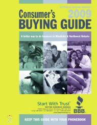Keep this guide with your phonebook - The Better Business Bureau