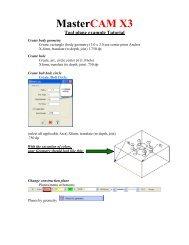 Exercise 1 - Mastercam CAD/CAM