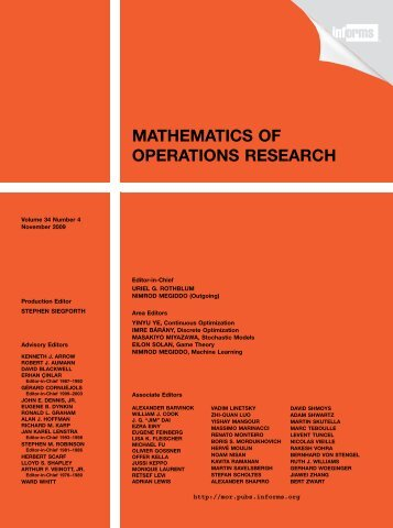 Front Matter (PDF) - Mathematics of Operations Research - Informs